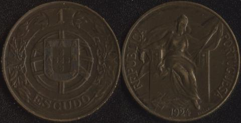 Португалия 1 эскудо 1924