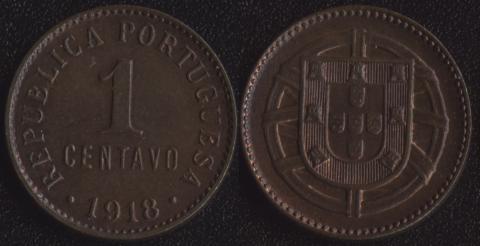 Португалия 1 сентаво 1918