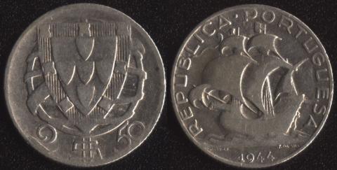 Португалия 2.5 эскудо 1944