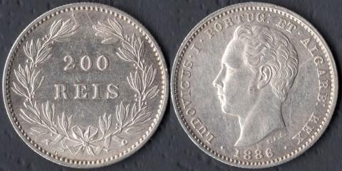 Португалия 200 рейс 1886
