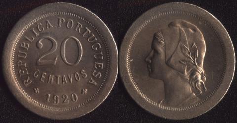 Португалия 20 сентаво 1920