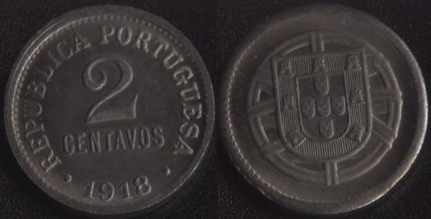 Португалия 2 сентаво 1918