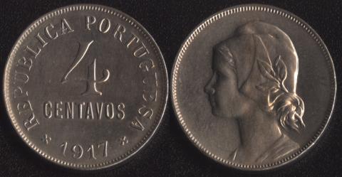 Португалия 4 сентаво 1917