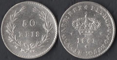 Португалия 50 рейс 1861