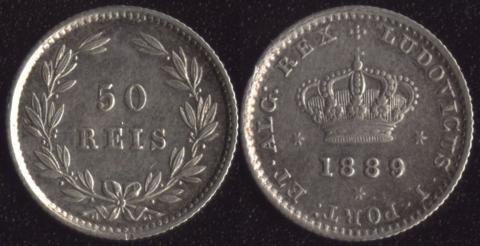 Португалия 50 рейс 1889