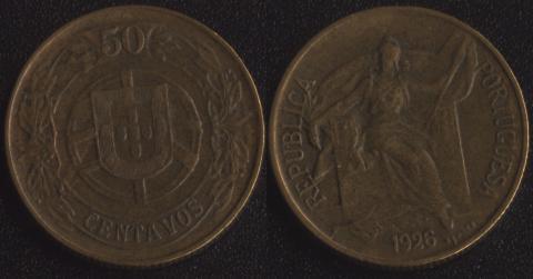 Португалия 50 сентаво 1926