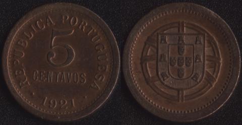 Португалия 5 сентаво 1921