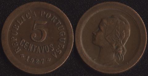 Португалия 5 сентаво 1927