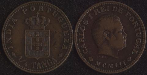Португальская Индия 1/4 таньга 1903