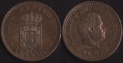 Португальская Индия 1/8 таньга 1901