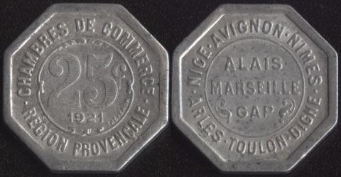 Прованс 25 сантим 1921