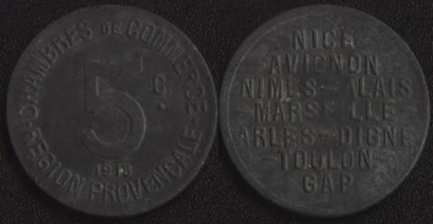 Прованс 5 сантим 1918