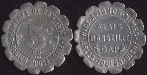Прованс 5 сантим 1921