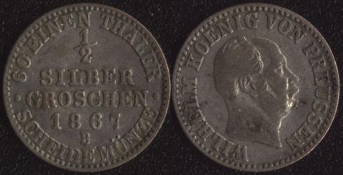 Пруссия 1/2 гроша 1867