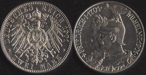 Пруссия 2 марки 1901