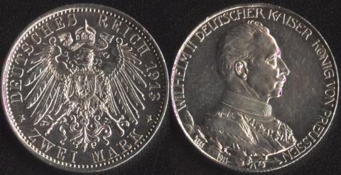 Пруссия 2 марки 1913(2)