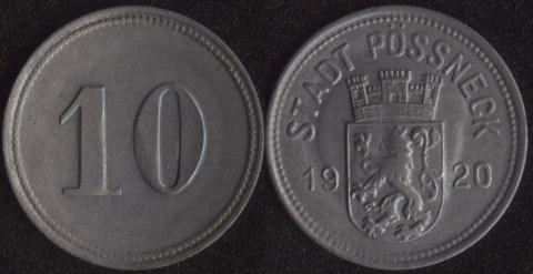 Пёсснек 10 пфеннигов 1920