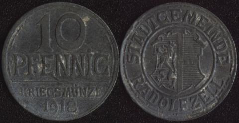 Радольфцелл 10 пфеннигов 1918