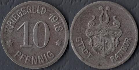 Ратибор 10 пфеннигов 1918