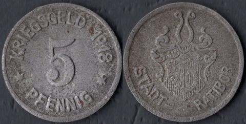 Ратибор 5 пфеннигов 1918