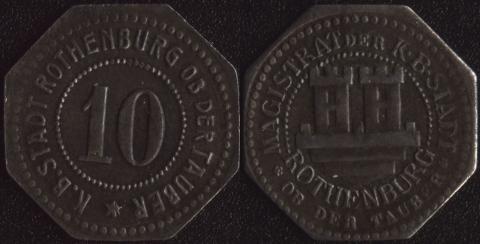 Ротенбург 10 пфеннигов
