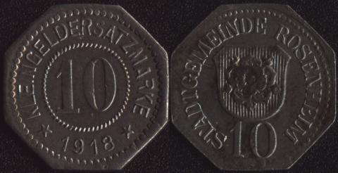 Розенхайм 10 пфеннигов 1918