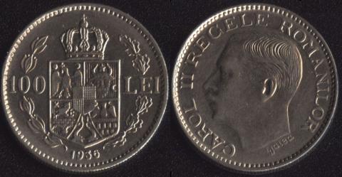 Румыния 100 леи 1936