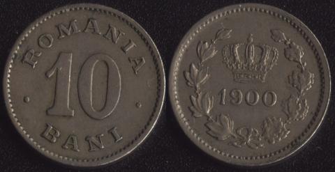 Румыния 10 бани 1900