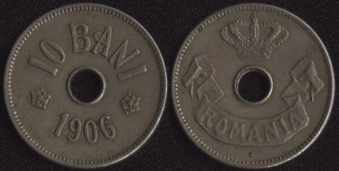 Румыния 10 бани 1906