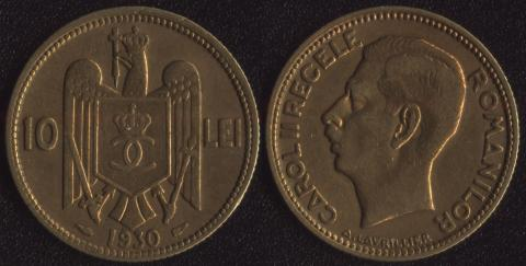 Румыния 10 леи 1930
