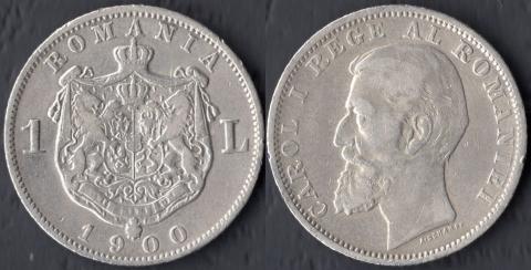 Румыния 1 леи 1900