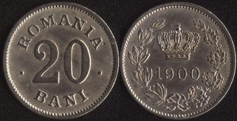 Румыния 20 бани 1900