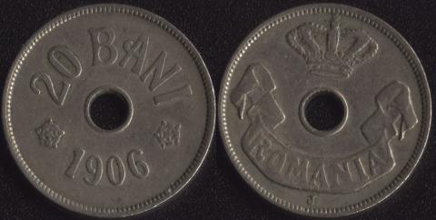 Румыния 20 бани 1906