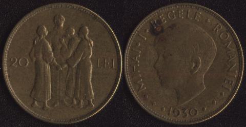 Румыния 20 леи 1930