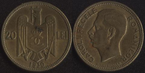 Румыния 20 леи 1930 H