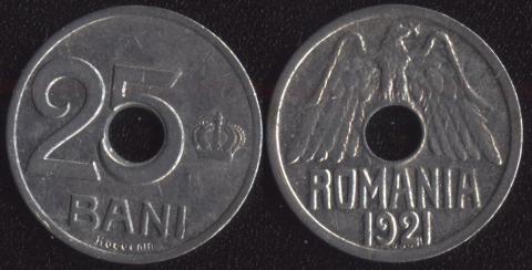 Румыния 25 бани 1921
