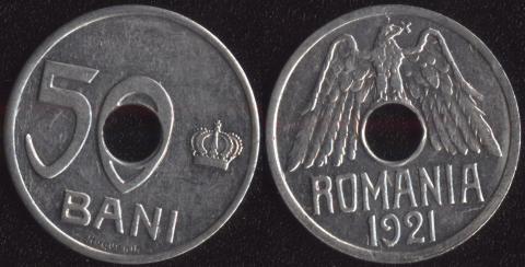 Румыния 50 бани 1921