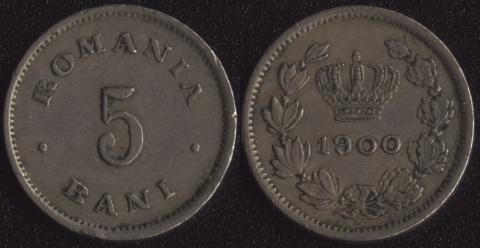 Румыния 5 бани 1900