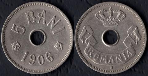 Румыния 5 бани 1906