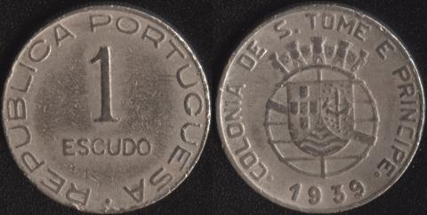 Сан-Томе и Принсипи 1 эскудо 1939