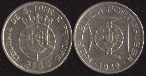 Сан-Томе и Принсипи 2.5 эскудо 1939