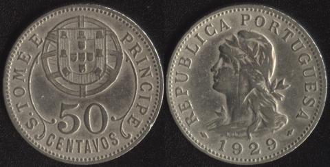 Сан-Томе и Принсипи 50 сентаво 1929
