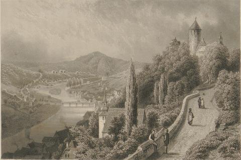 Вид на город Альтена, 1872 год