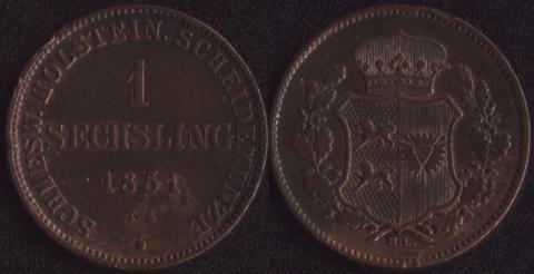 Шлезвиг-Гольштейн 1 зекслинг 1851