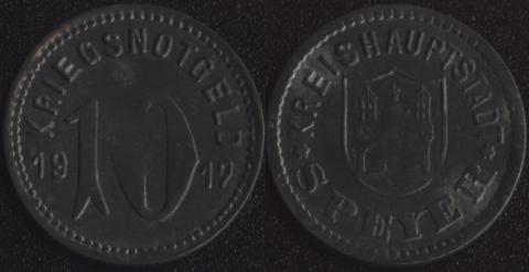 Шпейер 10 пфеннигов 1917