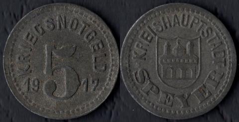 Шпейер 5 пфеннигов 1917