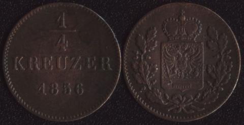 Шварцбург-Рудольштадт 1/4 крейцера 1856