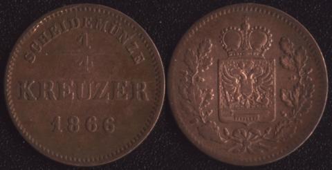 Шварцбург-Рудольштадт 1/4 крейцера 1866