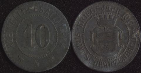 Шварценбах 10 пфеннигов 1917