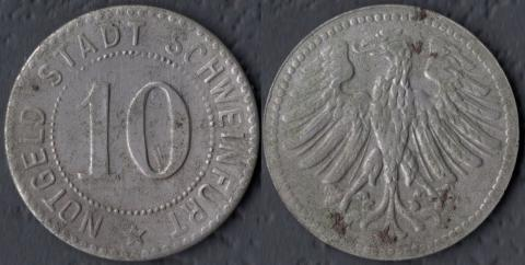Швайнфурт 10 пфеннигов